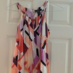 WHBM Mutlicolor Silk Stretch Top
